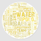 Water Polo Word Cloud Products Classic Round Sticker