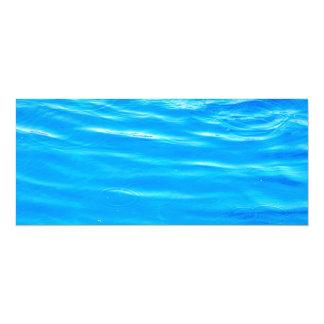 Water pretty deep blue rippling beautiful photo 10 cm x 24 cm invitation card