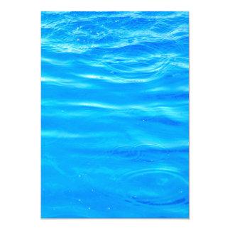 Water pretty deep blue rippling beautiful photo 13 cm x 18 cm invitation card