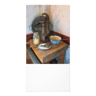 Water Pump in Kitchen Photo Card Template
