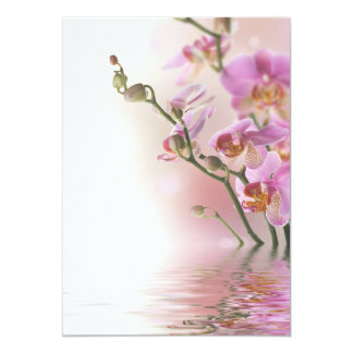 "Water reflection orchids invitations 5"" x 7"" invitation card"