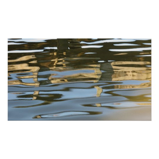 Water ripple abstract poster