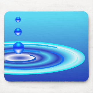 water ripples drops mouse pads
