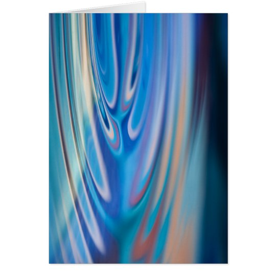 Water Ripples turquoise Abstract multicolor Card