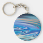 Water Ripples turquoise Abstract multicolor Key Ring