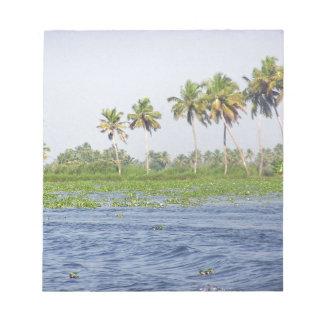 Water rippling in the coastal lagoon memo pads
