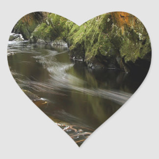 Water River Moves Heart Sticker