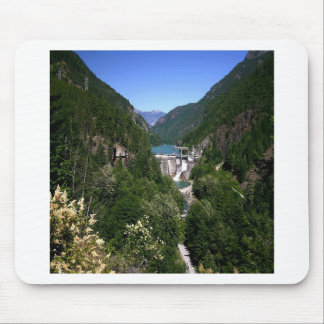 Water River Valley Dam Mouse Pads