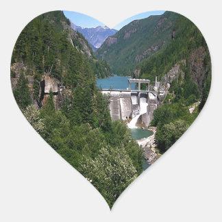 Water River Valley Dam Heart Sticker