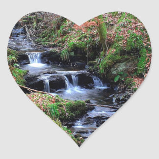 Water River Valley Gorge Heart Sticker