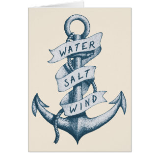 Water Salt and Wind Anchor Tattoo Cards