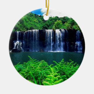 Water Secluded Falls Kauai Christmas Ornament
