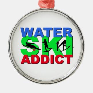 Water Ski Addict Christmas Ornament