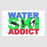 Water Ski Addict Rectangular Sticker