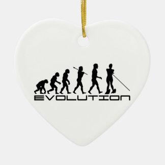 Water Ski Waterski Sport Evolution Art Christmas Ornament