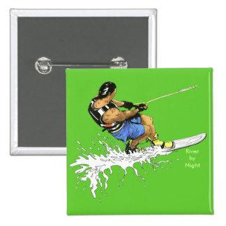 Water Skier -blue Pins