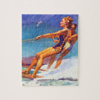 Water Skier by McClelland Barclay Jigsaw Puzzle