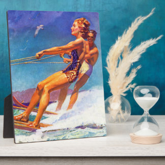 Water Skier by McClelland Barclay Plaque