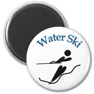 Water Skier - Water Ski 6 Cm Round Magnet