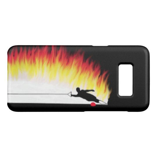 Water Skier With Flames Samsung Galaxy S8 Case