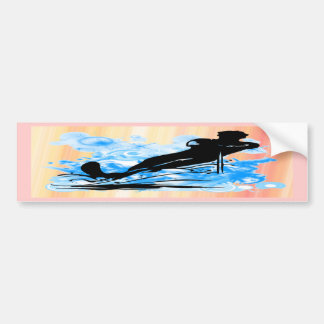 Water Skiing Car Bumper Sticker