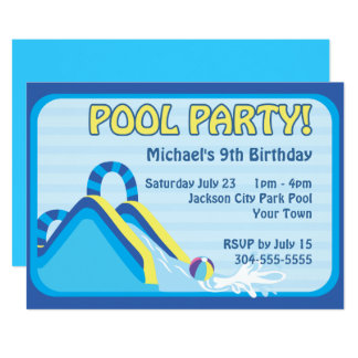 Water Slide Birthday Card