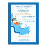 Water Slide Birthday Party Invitation