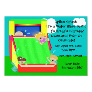 Water Slide Party Invitation