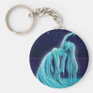Water Spirit Basic Round Button Key Ring