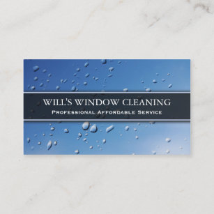 Window Cleaner Business Cards Zazzle Uk