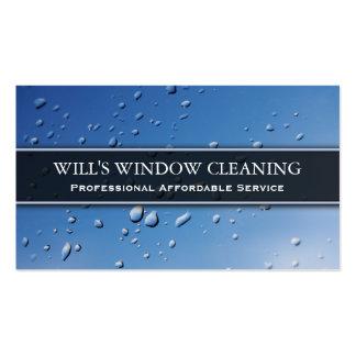 Water Splash, Blue Window Cleaner - Business Card