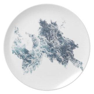 Water splash dinner plate