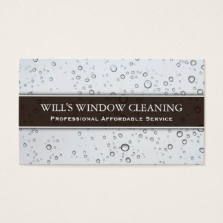 Water Splash, White Window Cleaner - Business Card
