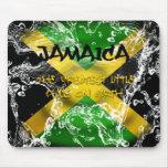 Water  Splashed Jamaica Flag Mousepad