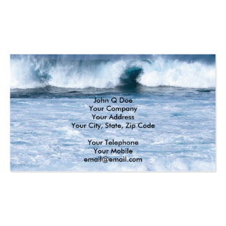 Water sports strong surf in the ocean pack of standard business cards
