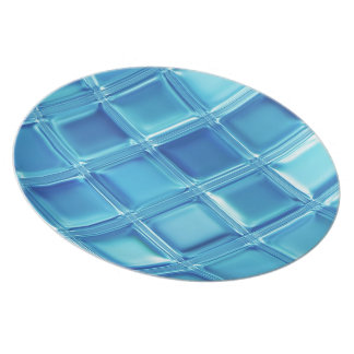 Water Squared customizable glass tile plate