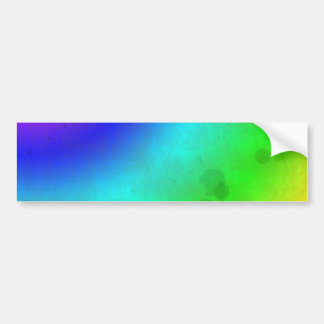 Water Stained Rainbow Bumper Stickers