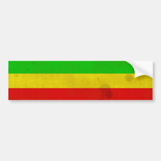 Water Stained Rasta Stripes Bumper Stickers