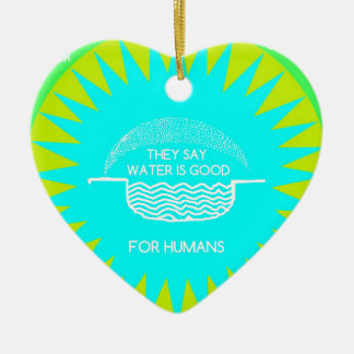 WATER SUITES CERAMIC HEART DECORATION