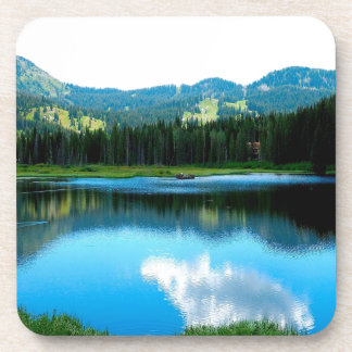Water Summer Glow Reflection Beverage Coasters