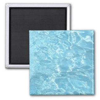Water Summertime Sunlight Blue White Pool Magnet