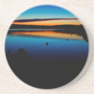 Water Sunset Late Glow Beverage Coasters
