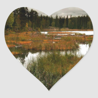 Water Swapy River Heart Sticker