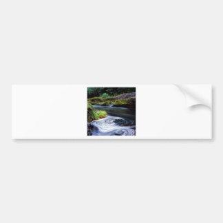 Water Swirling Eddy Clackamas River Oregon Bumper Stickers