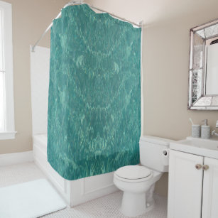 Water Texture In Caribbean Sea Shower Curtain