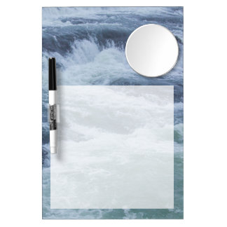 Water Textures Dry Erase Board With Mirror