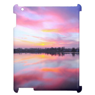 Water Themed, A Lake Reflecting The Sky Full Of Pi Case For The iPad