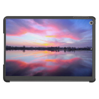 Water Themed, A Lake Reflecting The Sky Full Of Pi Cover For iPad Air