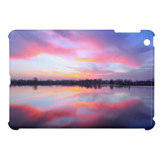Water Themed, A Lake Reflecting The Sky Full Of Pi Cover For The iPad Mini