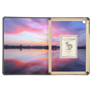 Water Themed, A Lake Reflecting The Sky Full Of Pi iPad Air Covers